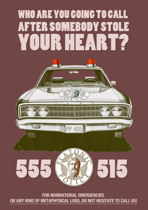 platonic car poster